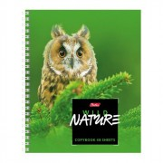 Тетрадь А5 клетка 48 листов на гребне (HATBER) Wild Nature арт.48Т5В1гр