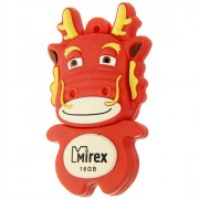 Флеш диск 16GB USB 2.0 Mirex Dragon красный