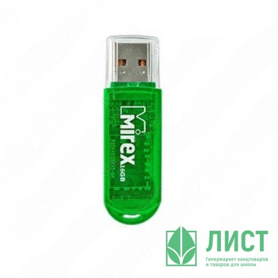 Флеш диск 32GB USB 2.0 Mirex ELF зеленый Флеш диск 32GB USB 2.0 Mirex ELF зеленый